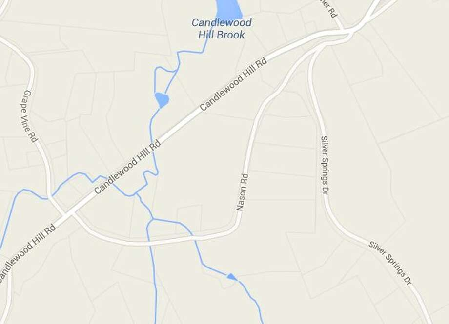 Candlewood Hill Road was the scene of a two-car crash on Thursday. Photo: Courtesy Google Earth