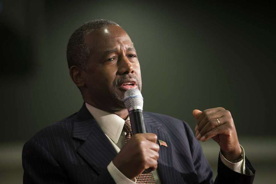 Republican presidential candidate Ben Carson speaks during a campaign rally at the Sharonville Convention Center on Sept. 22 in Cincinnati. Photo: AP Photo  / AP
