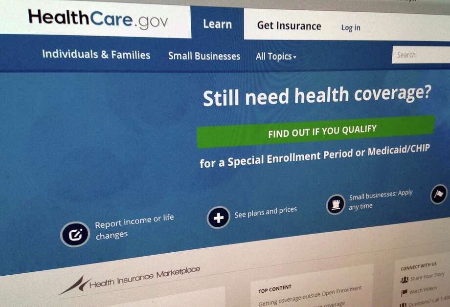 This Sept. 15, 2014 shows part of the HealthCare,gov Website in Washington. The government's own watchdogs say they tried to hack into HealthCare.gov earlier this year and found what they termed a critical vulnerability. Photo: AP Photo/Jon Elswick, File  / ap