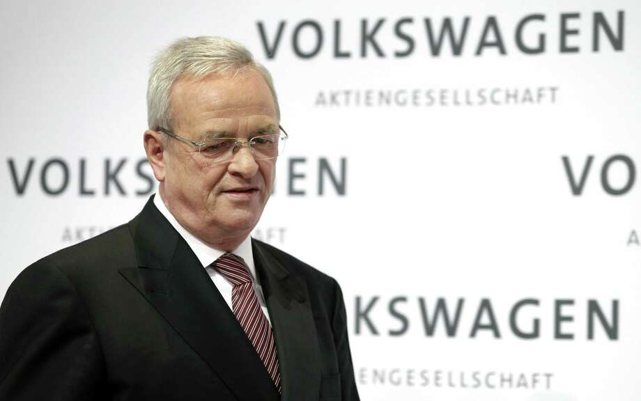 Volkswagen CEO Martin Winterkorn looks down as he arrives for the company's annual press conference in Berlin, Germany, Thursday, March 12, 2015. Photo: AP Photo/Michael Sohn  / AP