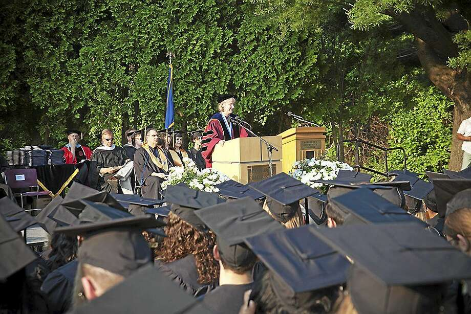 Middlesex Community College will hand out a record number of diplomas during its commencement ceremony set for May 28. Photos illustrate MxCC's Class of 2014 ceremony. Photo: Courtesy Photo MxCC