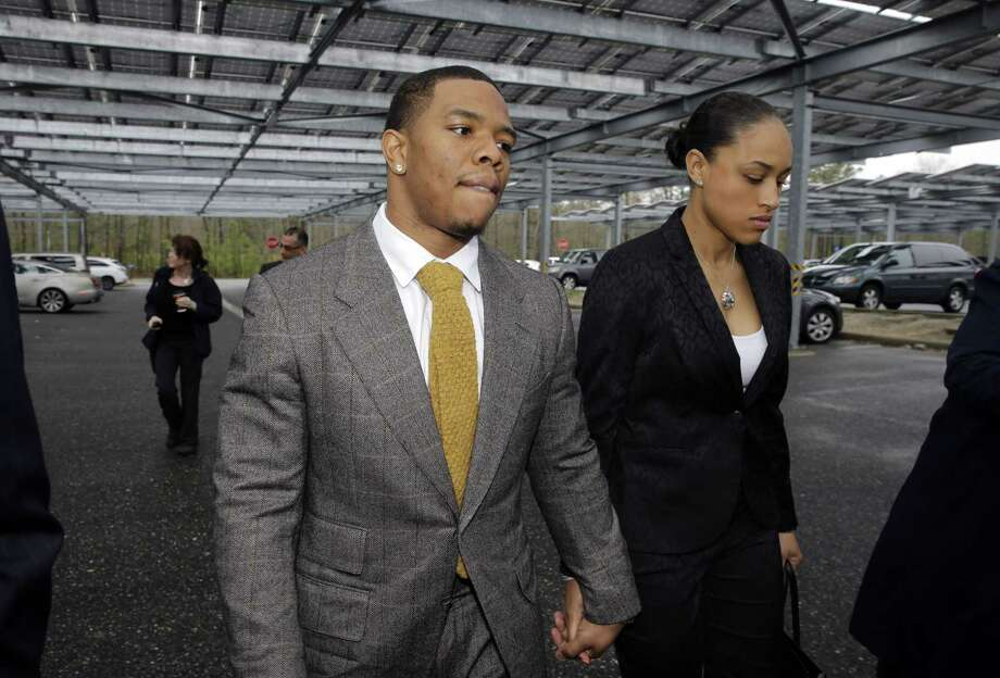 A judge in New Jersey has dismissed domestic violence charges against Ray Rice, who was captured by a surveillance camera knocking his then-fiancee, Janay Palmer, unconscious in a hotel elevator. Photo: Mel Evans — The Associated Press File Photo  / AP