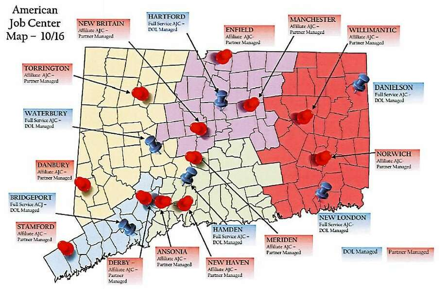 Map of the job centers after Oct. 16. Photo: Journal Register Co.