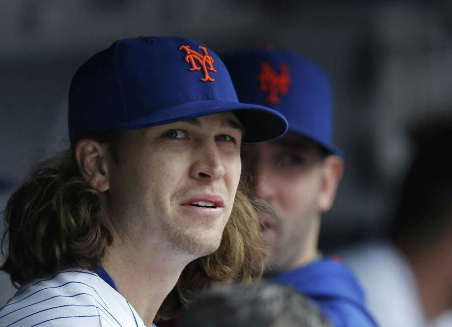 Starter Jacob deGrom pitched eight innings of one-hit ball with 11 strikeouts in the Mets' 5-0 win over the St. Louis Cardinals on Thursday in New York. Photo: Kathy Willens — The Associated Press  / AP