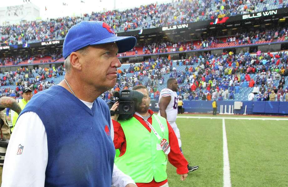 Buffalo Bills head coach Rex Ryan walks off the field after a win over the Indianapolis Colts last Sunday in Orchard Park, N.Y. Photo: Bill Wippert — The Associated Press  / FR170745 AP