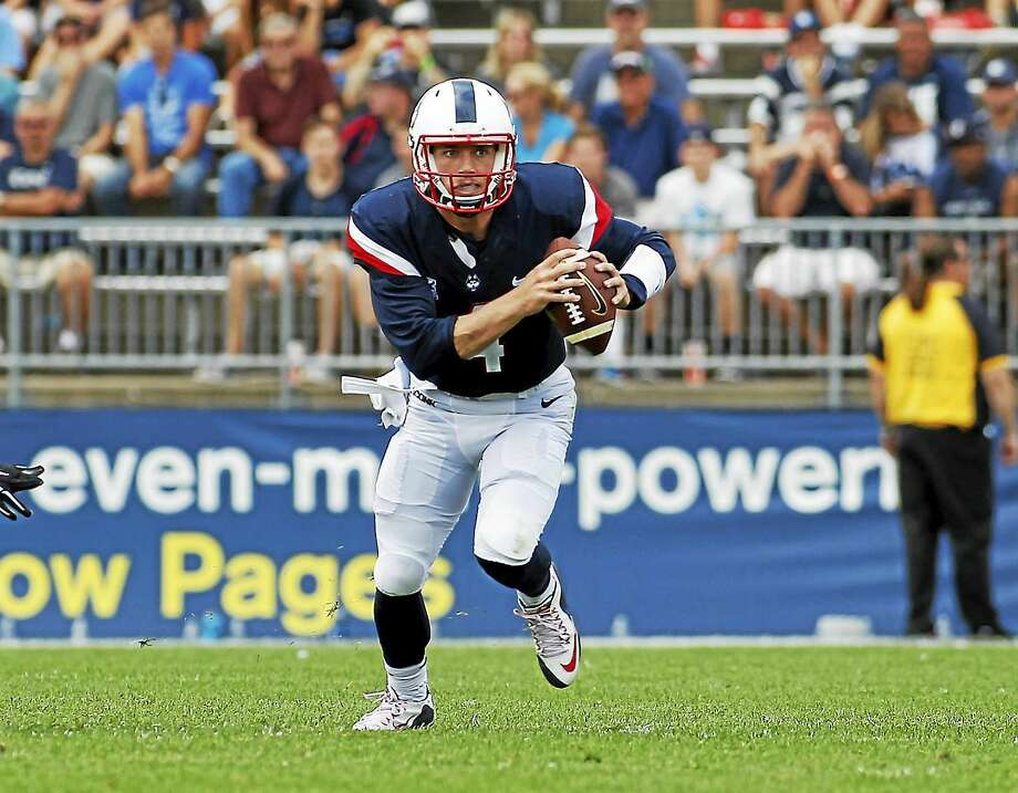 UConn quarterback Bryant Shirreffs is trying to become the first UConn quarterback during the FBS era to throw for at least 200 yards in each of his first three starts. Photo: The Associated Press File Photo  / FR56276 AP