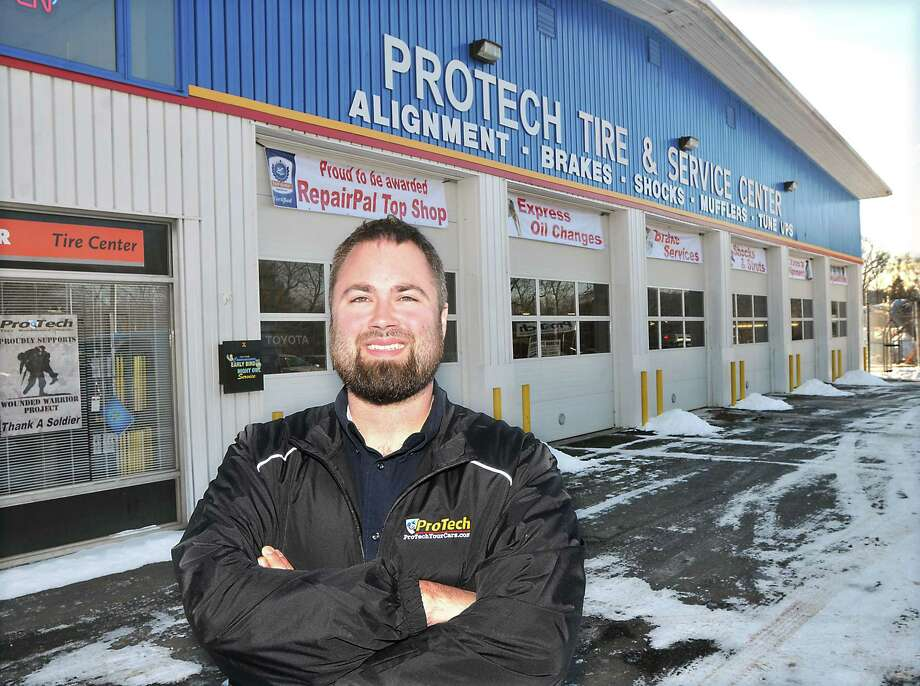 Matt Callinan, owner of ProTech Automotive Group, a complete automotive service center, has opened a second shop at 1611 Portland-Cobalt Road in Portland. Photo: Catherine Avalone — The Middletown Press  / TheMiddletownPress
