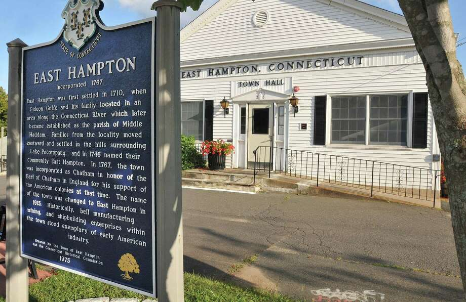 East Hampton Town Hall Photo: Catherine Avalone - The Middletown Press  / TheMiddletownPress