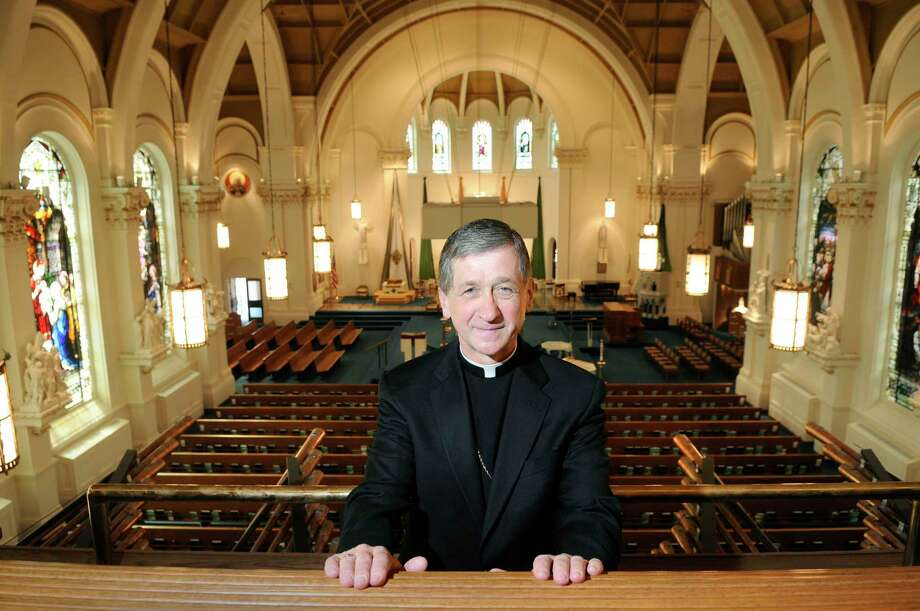 Bishop Blase Cupich poses for a photo at The Cathedral of Our Lady of Lourdes in Spokane, Wash. Cupich will be named the next archbishop of Chicago. Photo: Associated Press File Photo  / The Spokesman-Review