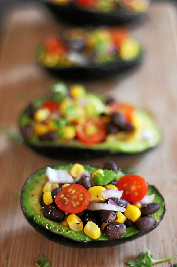 Vegan Avocado Bowls make inventive use of the outer skin of this fruit that's packed with healthy fat, vitamins and minerals. Photo: Courtesy I.O.N. Restaurant