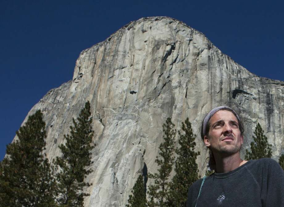 In this Nov. 15, 2010 photo provided by Tomas Ovalle, extreme athlete Dean Potter stands in front of El Capitan after a speed climbing attempt in Yosemite National Park, Calif. Photo: Tomas Ovalle — The Associated Press File Photo  / Tomas Ovalle
