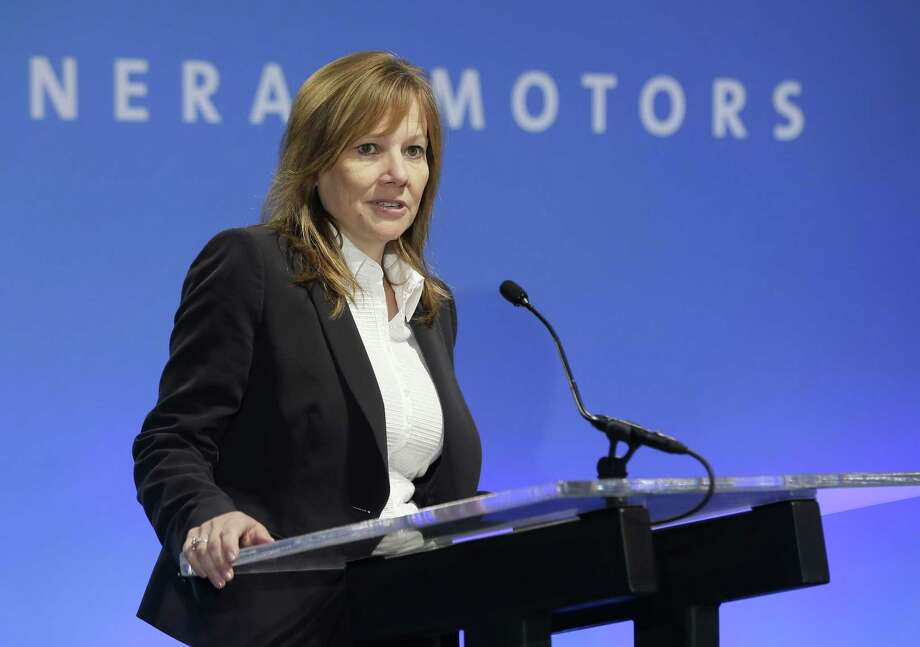 In this Oct. 1, 2014 photo, General Motors CEO Mary Barra addresses the Global Business Conference for investors in Milford, Mich. General Motors on Sept. 17, 2015 said it will pay $575 million to settle hundreds of civil lawsuits filed against the company over faulty small-car ignition switches. Photo: AP Photo/Carlos Osorio, File  / AP