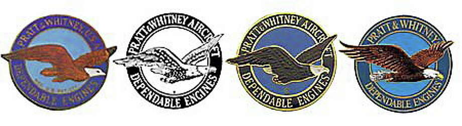 Trace evolution of Pratt & Witney eagle, from left, since 1925. Photo: Logos From P&W Website