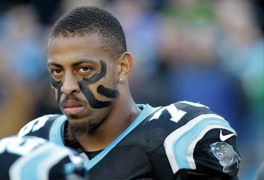 The Carolina Panthers have removed defensive end Greg Hardy from their active roster. Photo: Bob Leverone — The Associated Press File Photo  / FR170480 AP