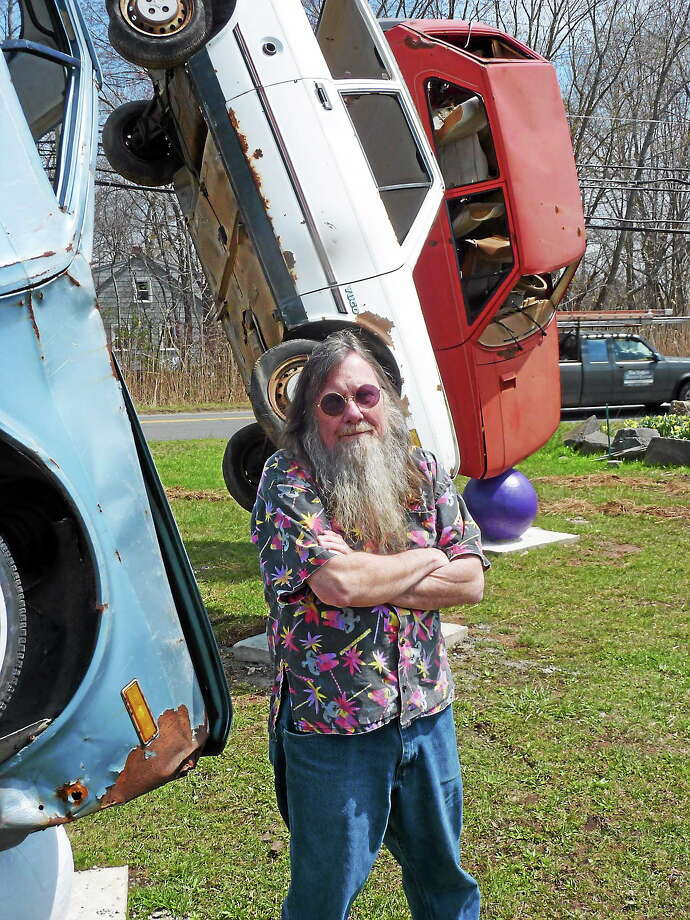 "Submitted photo The installation, ""I'd Go where Yugo Stanley Marsh 3,"" at Wild Bill's nostalgia in Middletown was created by local artists Joe McCarthy and Peter Albano. Photo: Journal Register Co."