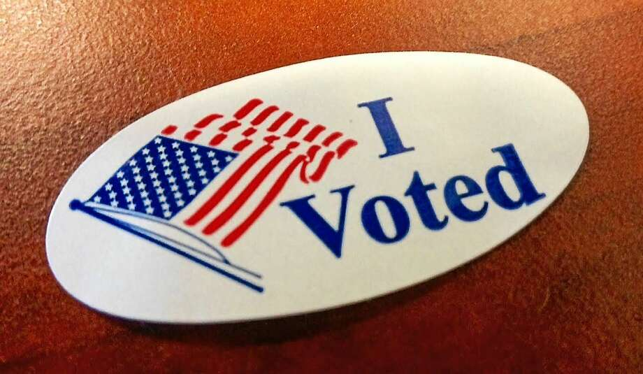 I voted sticker Photo: Journal Register Co.