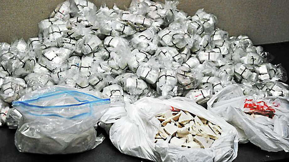 Heroin seized in Hartford as part of a bust of a New York City drug ring that police said was supplying to the Northeast. Photo: Contributed Photo — Special Narcotics Prosecutor's Office