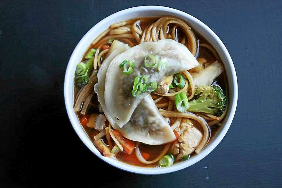 Vegan Vegetable Broth as made at I.O.N. Restaurant in Middletown Photo: Courtesy