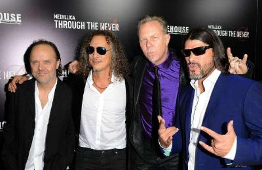 Lars Ulrich, Kirk Hammett, James Hetfield, and Robert Trujillo of Metallica attend the U.S. Premiere of Metallica Through The Never at the AMC Metreon on September 16, 2013 in San Francisco, California. Photo: FilmMagic / 2013 C Flanigan