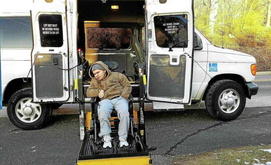 Middletown resident Ricky Ring, 23, is now mobile thanks to a donation of a used vehicle designed for wheelchair transport. Several groups came together to help raise funds to cover the purchase from Hunter's Ambulance, as well as registration, insurance and fuel for a year, according to the Ring family. Photo: Courtesy Donna Ring