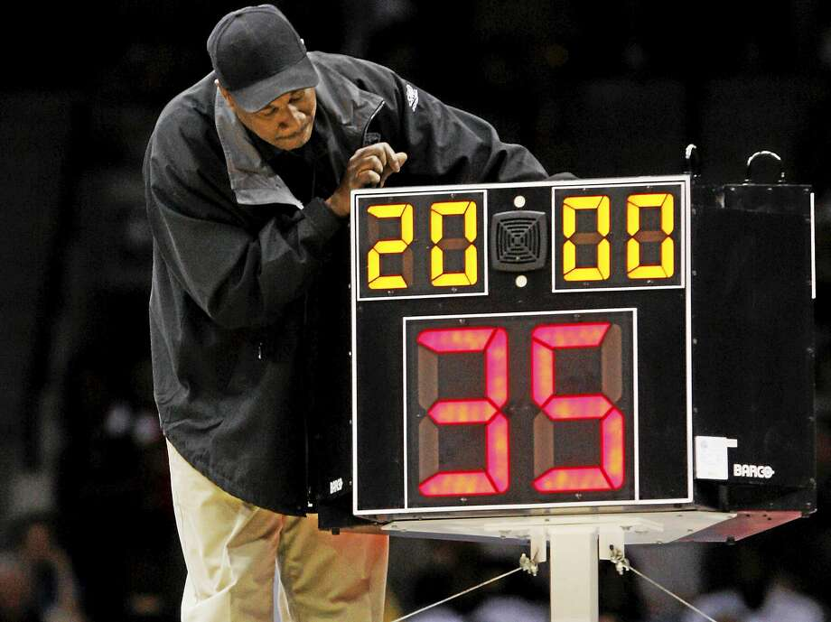 The NCAA men's basketball rules committee recommended reducing the shot clock from 35 to 30 seconds next season. Register sports columnist Chip Malafronte says it's simply change for the sake of change. Five less seconds won't help college basketball players understand how to run an effective offense. Photo: Steve Helber — The Associated Press File Photo  / AP