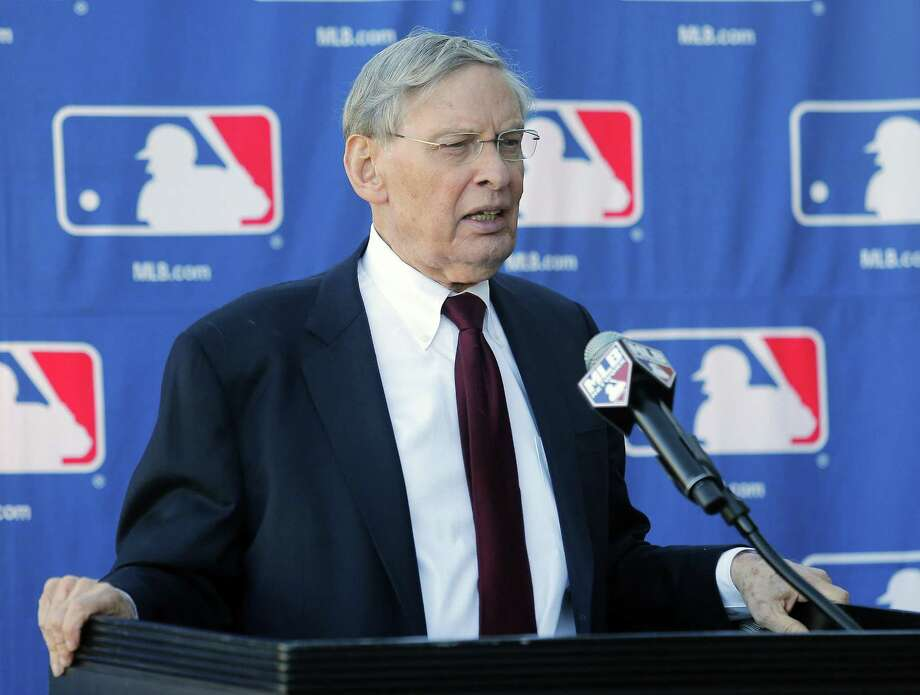 MLB Commissioner Bud Selig speaks with the media during a news conference Thursday at the Major League Baseball owners meeting. Photo: Rick Scuteri — The Associated Press  / FR157181 AP