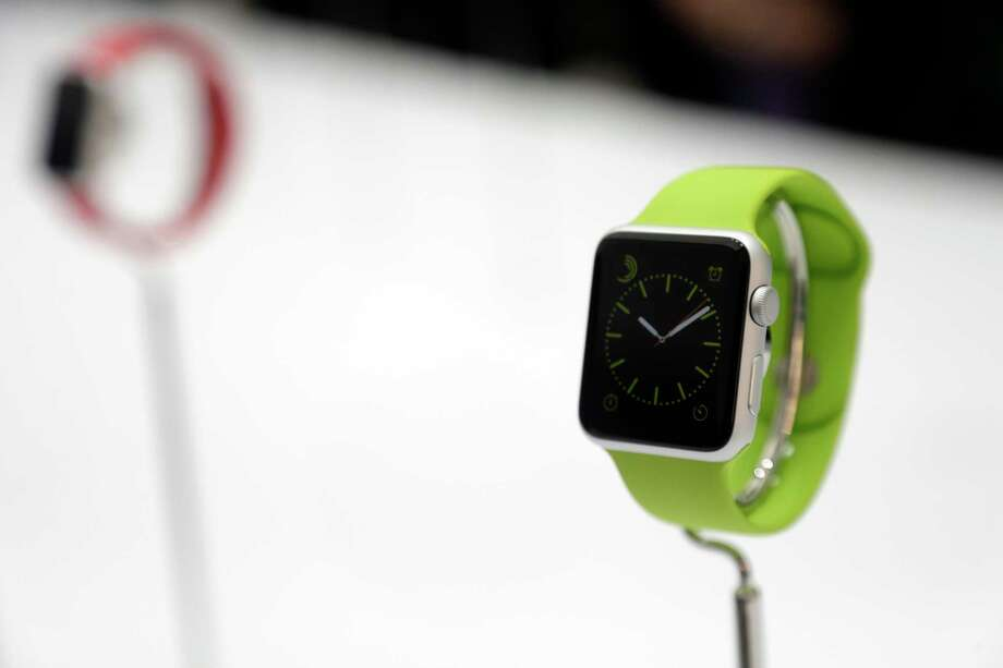 The Apple Watch is displayed on Tuesday, Sept. 9, 2014, in Cupertino, Calif. Photo: (Marcio Jose Sanchez — The Associated Press) / AP