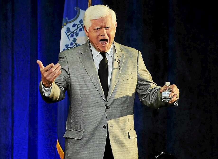 In this 2014 file photo, U.S. Rep. John Larson, D- Conn., calls out to supporters during a rally for Gov. Dannel P. Malloy in Hartford. Photo: Associated Press  / FR125654 AP