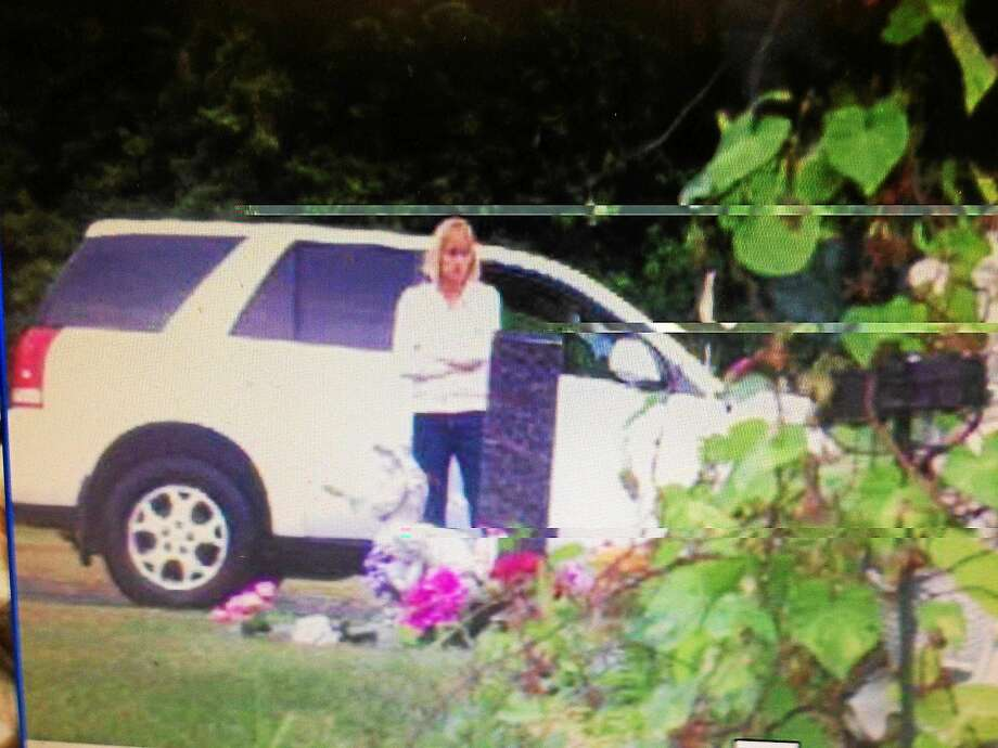 Middletown police are questioning a woman they suspect of stealing a statue from the Calvary Cemetery grave plot on Bow Lane on Saturday. Photo: Courtesy Middletown Police