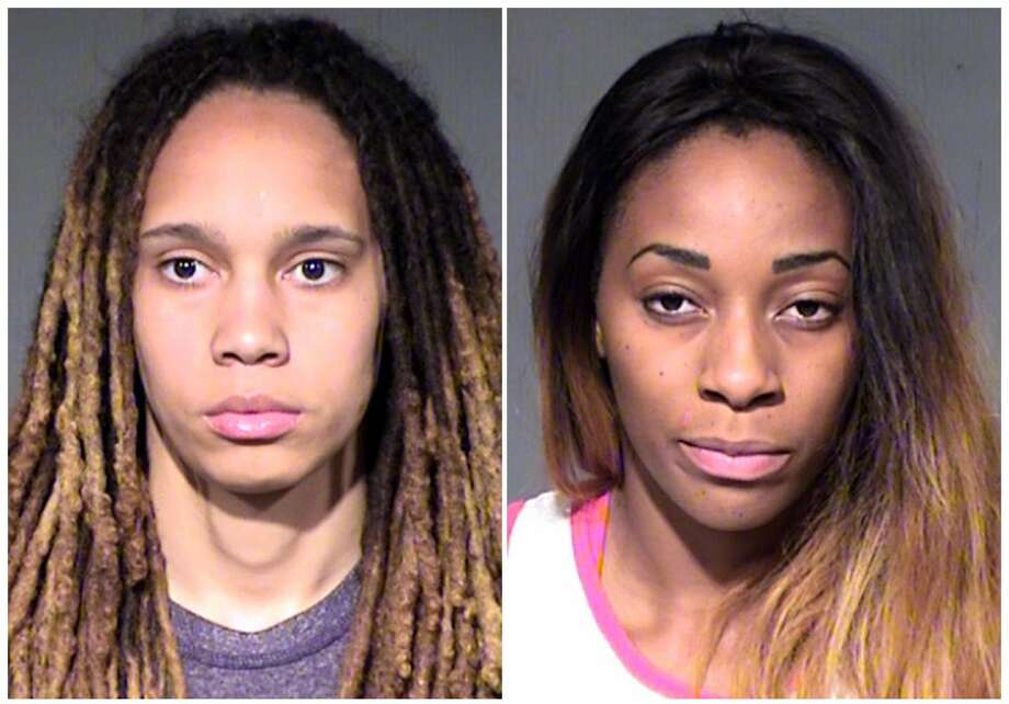 Brittney Griner, left, and Glory Johnson Photo: Maricopa County Sheriff's Office  / Maricopa County Sheriff's Office