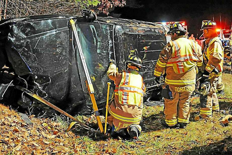 In December, Haddam Volunteer Fire Company crews were called to the scene of two rollovers. Photo: Courtesy Olivia Drake
