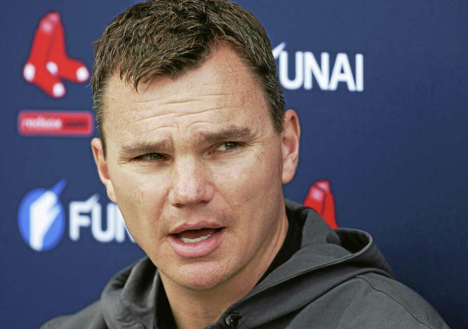 Boston Red Sox general manager Ben Cherington speaks with reporters during spring training last season. Photo: Steven Senne — The Associated Press File Photo  / AP