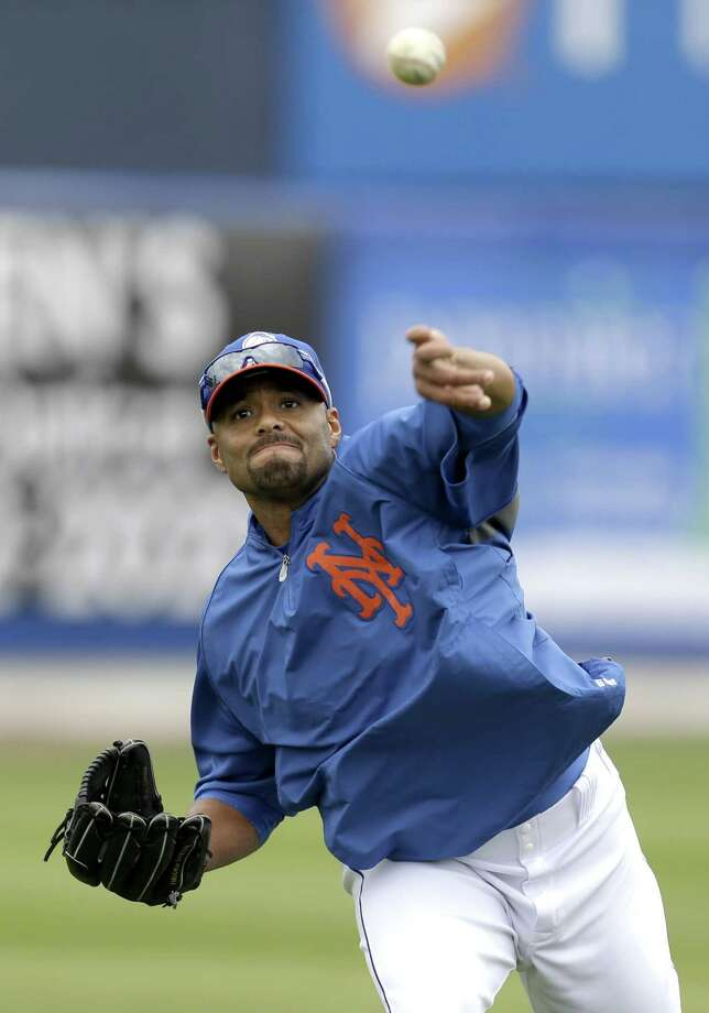Former New York Mets pitcher Johan Santana threw two perfect innings in Venezuela for the Navagantes del Magallanes on Tuesday, his first game pitching since tearing his Achilles tendon last June. Photo: Julio Cortez — The Associated Press File Photo  / AP