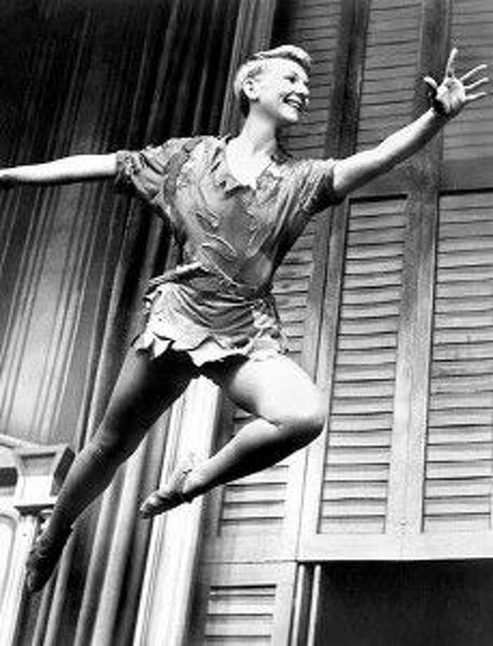 Mary Martin as Peter Pan in the national televised play in the 1950s.