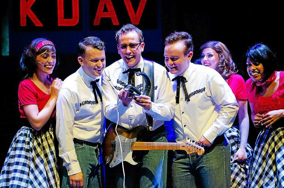 """Contributed photo The cast of Buddy: The Buddy Holly Story"""" in a scene from the musical, which will be peformed at the Palace Theater in Waterbury. Photo: Journal Register Co. / KJohnnyW"""