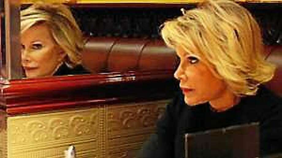 """n this film publicity image released by IFC Films, Joan Rivers is shown in a scene from the film, """"Joan Rivers: A Piece of Work."""" Photo: (FC Films)"""