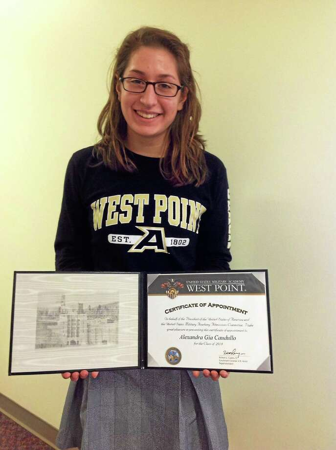 Alexandra Gia Caudullo of Mercy High School in Middletown is headed to USMA West Point. Photo: Courtesy Photo