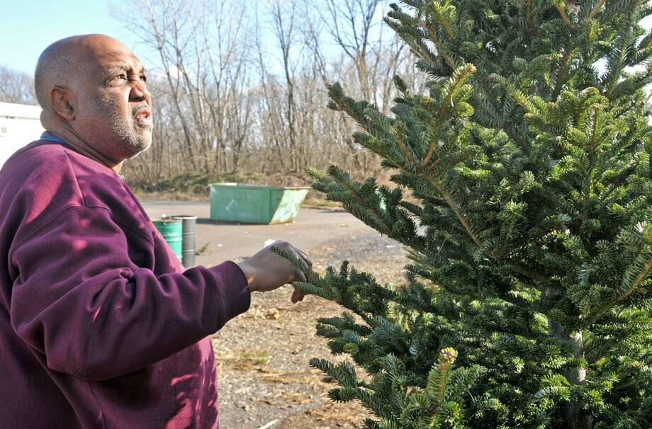 The town of Cromwell public works crews have begun picking up discarded Christmas trees. Photo: File Photo