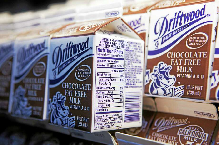 In this photo taken May 3, 2011, chocolate milk cartons are seen at the Belmont Senior High cafeteria in Los Angeles. Photo: (Damian Dovarganes — The Associated Press File Photo) / AP2011