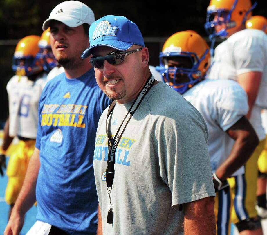 Football coach Peter Rossomando is leaving New Haven and heading to CCSU. Photo: Mara Lavitt — Register