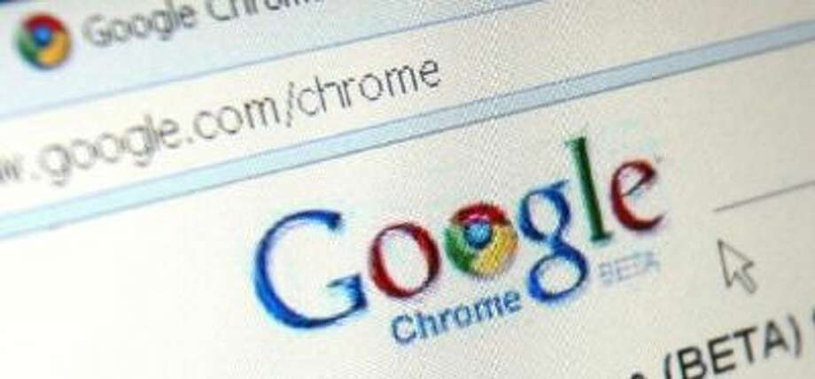 In this photo illustration Google's Chrome is displayed on an laptop.