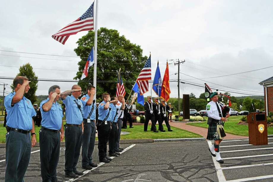 The City of Middletown remembered and reflected on the events of Sept. 11, 2001, at a ceremony held at South Fire District Thursday morning. Photo: Kaitlyn Schroyer - The Middletown Press