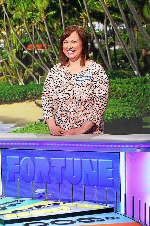 The Haddam mom of three enjoys her big television moment while competing on Wheel of Fortune. Photo: Courtesy Wheel Of Fortune  / © 2015 Califon Productions, Inc.?