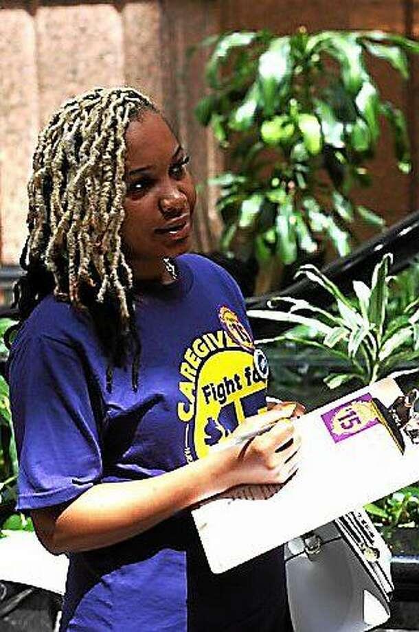 Narendra Rankine, a CNA with Touchpoints at Manchester Photo: ELIZABETH REGAN, CTNewsJunkie