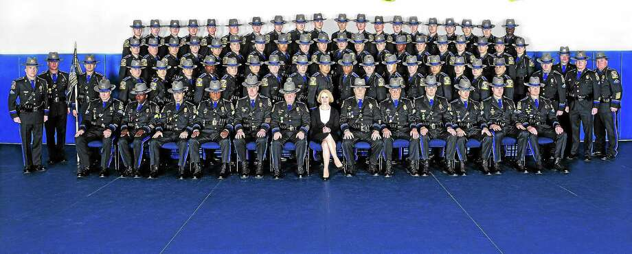 The members of the 124th training troop of the Connecticut State Police. Photo: Courtesy Connecticut State Police