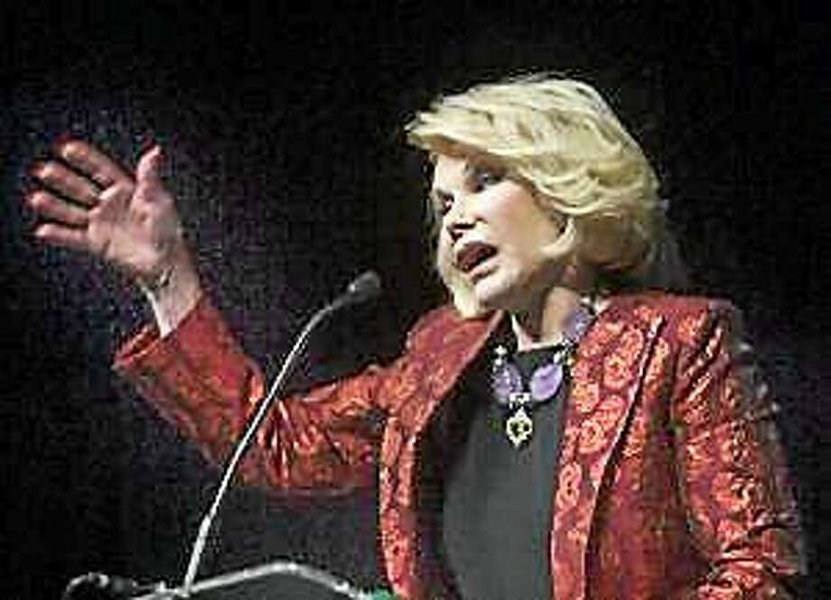 Joan Rivers speaks at the Ultimate Women's Expo at the Event Center in San Mateo, Calif., on Saturday, Oct. 5, 2013. Photo: (John Green — Bay Area News Group)