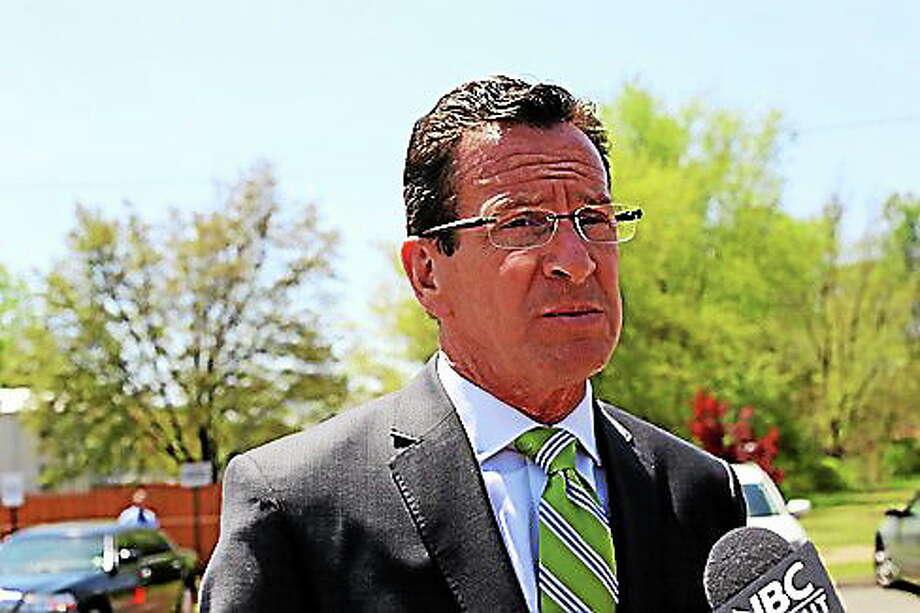 Gov. Dannel P. Malloy speaks at a press conference. Photo: Christine Stuart — CT News Junkie