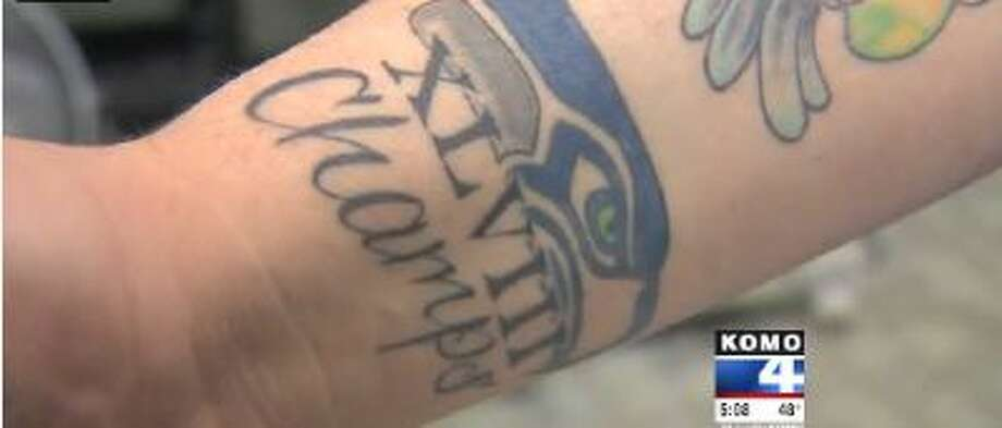 Seattle Seahawks fan Tim Connors already has a Super Bowl champs tattoo.