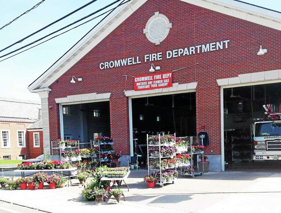 The Cromwell Fire Department Mother's Day plant sale continues this weekend. Photo: Jeff Mill — The Middletown Press