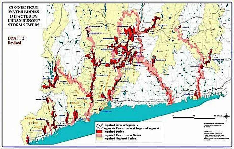 Impaired waterways map Photo: Courtesy Of CTNJ